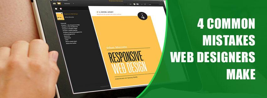 4 common mistakes web designers make